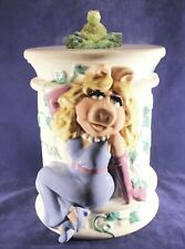 Muppets Miss Piggy & Kermit Frog Cookie Jar Henson Treasure Craft