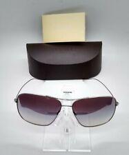 Rare Oliver Peoples Berenson OV1165ST Silver Aviator Sunglasses