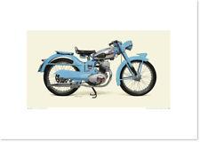Realistic Artwork Honda 1953 Honda Benly J by Seevert Works