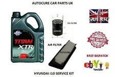 HYUNDAI i10 1.2 PETROL SERVICE KIT OIL AIR FILTER + 5L FUCHS OIL 2007 - 2013