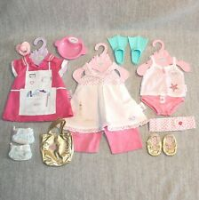 BABY BORN Zapf Creation Fashion Doll Baby Pink Outfits Accessories Bundle Lot 2