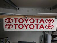 Sticker TOYOTA - RED 1000mm WINDSCREEN BANNER FREE Postage