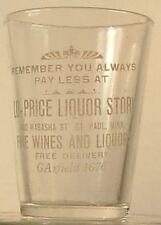LO-PRICE LIQUOR STORE ST PAUL MINN MINNESOTA MN VINTAGE SHOT GLASS