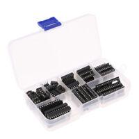 66Pcs DIL DIP IC Sockets Adaptor Assortment Kit (6/8/14/16/18/20/24/28 Pin)
