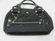 Burberry Black Quilted Bowling Handbag Satchel EUC