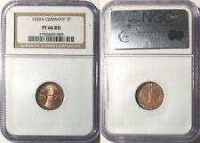 *Germany 1929-A 1 Reichspfennig, KM-37, NGC PR66RD
