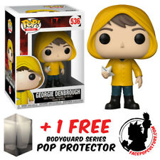 FUNKO POP IT 2017 GEORGIE DENBROUGH VINYL FIGURE + FREE POP PROTECTOR