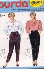 1980's VTG Burda Misses' Pants Pattern 6682 Size 8-18 UNCUT
