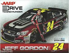 "2014 JEFF GORDON #24 AARP DRIVE TO END HUNGER ""1ST VERSION"" SPRINT CUP POSTCARD!"