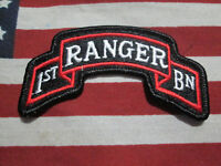 US Army 1st Battalion Ranger Color Scroll Patch Tab m/e