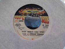 45A THE FLAMING EMBER WHY DONT YOU STAY / WESTBOUND #9 ON HOT WAX RECORDS