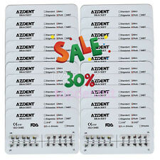 AZDENT 20 Packs Dental Orthodontic Bracket Braces Mini Roth Slot.022 3-4-5 Hooks