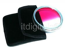 49mm Graduated Pink Color Lens Glass Filter Screw-in Half Pink Half Clear Coated