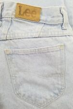 Vintage Lee Womens Mom Jeans High Waisted Tapered Light Blue Wash USA Made 14 M