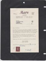 mars limited  confectionary 1954 receipt ref 12849