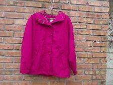 Eddie Bauer Gore Tex Water Proof Hooded Rain Jacket Womens M   Hot Pink