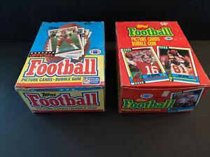 1989 & 1990 Topps Football Wax Box Lot X2, 36 Factory Sealed Packs Per Box!!