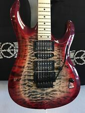 Cort Guitars X-11 Wine Red Burst Quilt Maple Electric Guitar w FREE Levy Gig Bag