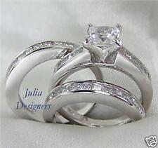 3 ct Princess Cut Her Engage Wedding Ring Set, Siz 11