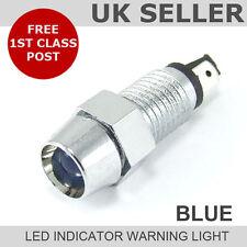 Led Cromo Dash indicador de luz de advertencia 12v * azul *