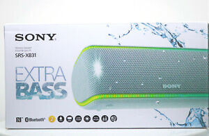 NEW Sony Portable Waterproof Bluetooth Speaker SRS-XB31 Extra Bass - White