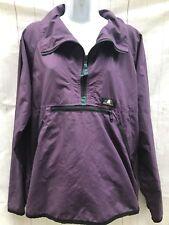 Vintage 90s Sierra Designs Purple Hooded 1/2 Zip Windbreaker Womens Sz M