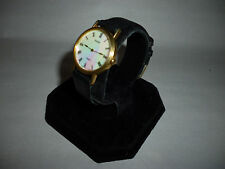 Ladies Pulsar MOP Dial Goldtone Analog Quartz Watch Leather Band V400-0170