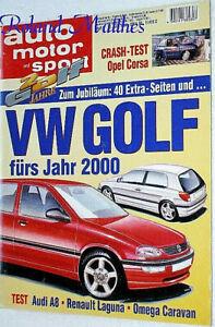 AMS 9-94+VW GOLF+AUDI A8 2.8+DODGE RAM PICK-UP+OPEL OMEGA & CORSA+RENAULT LAGUNA