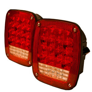2 Peterbilt LED Stop Tail Turn Lights, Replaces 16-06292 + 16-06291