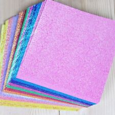50pcs Square Origami Paper Single Side Glitter Folding Solid Color Papers 7x7cm