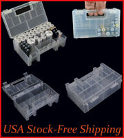 AA AAA C Battery Case Storage Box Containers Holder Organizer Clear Plastic