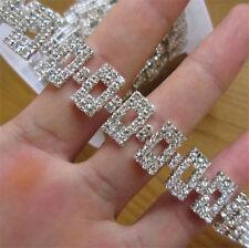 11.8 Inches Rhinestone Chain Crystal Trim Ribbon Sparkle Diamante Wedding Bridal