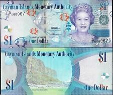Cayman Islands 2010, $1 Dollar /Fishes/QEII, Banknote UNC