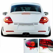 2pcs Funny Bleeding Red Blood Drip Zombie Reflective Car Vinyl Decal Sticker New