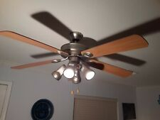 "Harborbreeze 52"" Ceiling Fan with 4 Lights in Brushed Nickel"