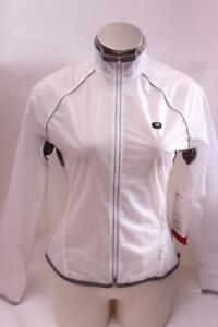 New Sugoi Women's HydroLite Jacket XL White Cycling Bike Wind Water Resistant