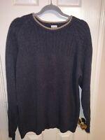 Columbia Men's Long Sleeve Crew Neck Pullover Sweater Sz Large Blue/ Beige L
