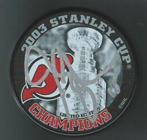 Jamie Langenbrunner Signed New Jersey Devils 2003 Stanley Cup Champions Puck