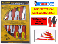 Electrician Screwdriver Set 6 Piece Electrical Fully Insulated VDE Magnetic Tips