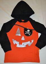 Gymboree Happy Harvest Pirate Jack O Lantern Hooded Shirt 2T Boy NWT Halloween