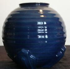 ANTIQUE ENGLISH ART DECO POTTERY COBALT BLUE VASE