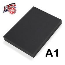 25 Sheets A1 Heavy 290GSM Card BLACK 840x594mm Art Craft School College Uni
