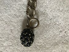 J.CREW JEWELRY Twisted Gold Chain Bracelet with Blackberry Charm
