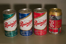 4 Bcca cans - Rainier Jubilee chapter set - Happy Birthday Beer Can