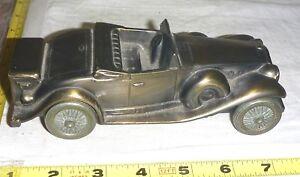 "Vtg Metal Car [1930 CADILLAC] COIN BANK by BANTHRICO Inc Chicago  ~ 7""L x 3""W"