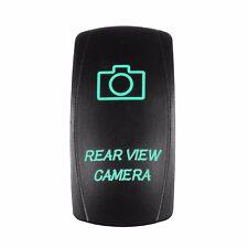 Rocker Switch Laser Rear View Camera Dual led GREEN 12V marine boat car