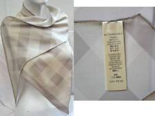 BURBERRY LUXUS SCHAL TUCH SCARF Carré платок SEIDE CHECK 150x25 UVP 229 € BEIGE