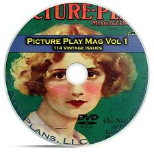 Picture Play Magazine, Vol 1, 114 Fan Issues, Golden Age Hollywood, DVD CD C17