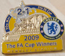 CHELSEA v EVERTON 2009 Victory Pins FA CUP FINAL Badge Danbury Mint