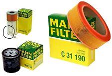 Mann Oil Air Fuel Filter Service Kit for Mercedes W123 300CD 300D 300SD 300TD